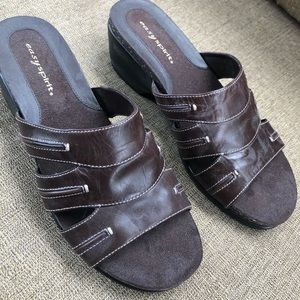 Easy Spirit brown slides